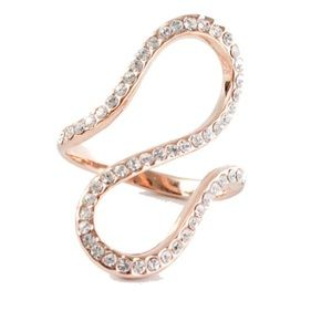 Rose Gold Swirl Pave Ring